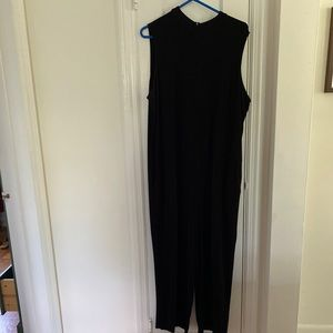 Eileen Fisher black mock neck jumpsuit